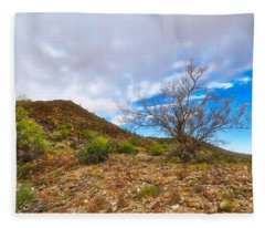 Fleece Blanket featuring the photograph Lone Palo Verde by Judy Kennedy