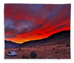 Lone Tent Fleece Blanket