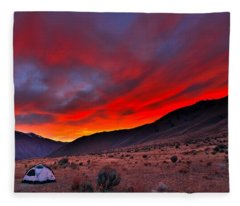 Lone Tent Fleece Blanket