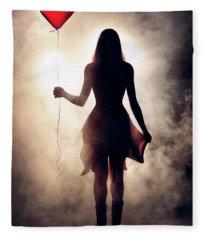 Lonely Heart Fleece Blanket