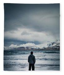 Lonely Seas Fleece Blanket