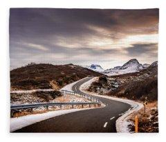 Long And Winding Road Fleece Blanket