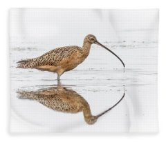 Long-billed Curlew Fleece Blanket