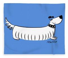 Long Dog Fleece Blanket