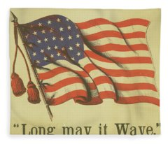 Long May It Wave Fleece Blanket