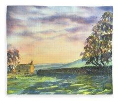 Long Shadows At Sunset Fleece Blanket