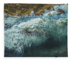 Fleece Blanket featuring the photograph Longreef Waves by Chris Cousins