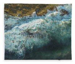 Longreef Waves Fleece Blanket