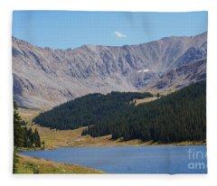 Longs Peak Colorado Fleece Blanket