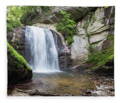 Looking Glass Falls In North Carolina 1 Fleece Blanket