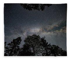 Looking Up At The Milky Way Fleece Blanket