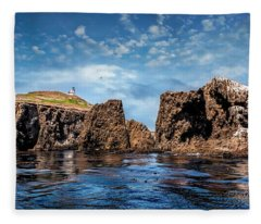 Looking West At Anacapa Island Fleece Blanket