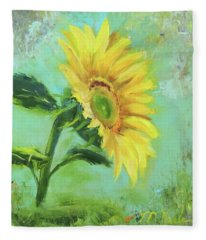 Loose Sunflower Fleece Blanket