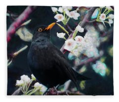 Song Birds Mixed Media Fleece Blankets