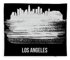 Los Angeles Skyline Brush Stroke White Fleece Blanket