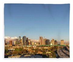 Los Angeles Skyline Looking East Panorama 2.9.19 Fleece Blanket