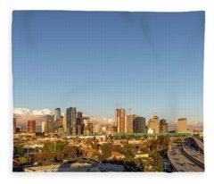Los Angeles Skyline Looking East Panorama 2.9.19 Fleece Blanket
