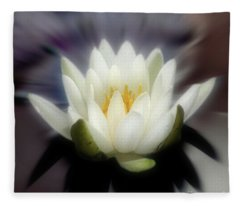 Lotus Blossom Enhanced Fleece Blanket