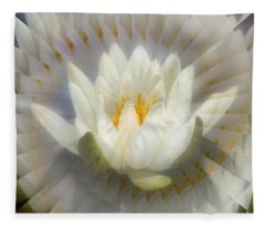Lotus Blossom Illusion Fleece Blanket