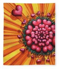 Love Blossom Fleece Blanket