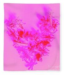 Love Bug Pop Heart Fleece Blanket