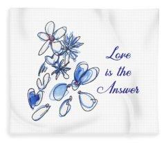 Love Is The Answer Fleece Blanket