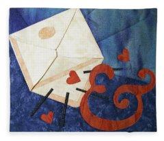 Love Letter Fleece Blanket