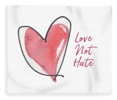 Love Not Hate Fleece Blanket