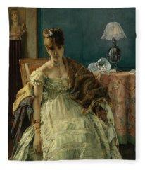 Lovelorn, 19th Century Fleece Blanket