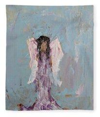 Lovely Angel  Fleece Blanket