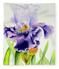 Lovely Iris Fleece Blanket