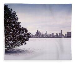 Lovely Winter Chicago Fleece Blanket