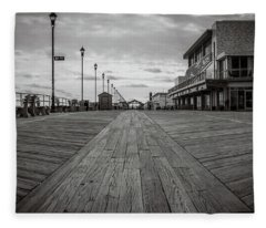Fleece Blanket featuring the photograph Low On The Boardwalk by Steve Stanger