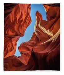 Lower Antelope Canyon Seahorse Fleece Blanket