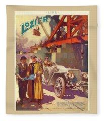 Lozier Advertisement Fleece Blanket