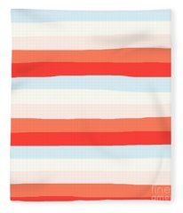 lumpy or bumpy lines abstract and colorful - QAB268 Fleece Blanket