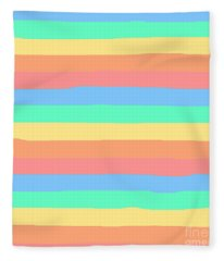 lumpy or bumpy lines abstract and summer colorful - QAB275 Fleece Blanket