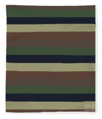 Army Color Style Lumpy Or Bumpy Lines - Qab279 Fleece Blanket