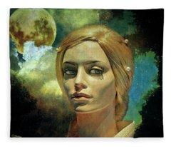 Luna In The Garden Of Evil Fleece Blanket