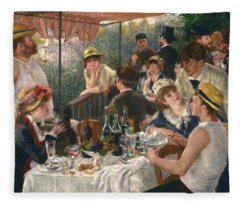 Luncheon Of The Boating Party, 1880-1881 Fleece Blanket