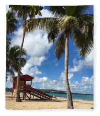 Luquillo Beach Fleece Blanket
