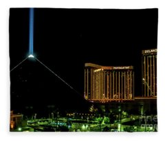 Luxor - Mandalay Bay At Night Las Vegas Fleece Blanket