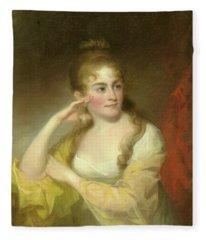 Portrait Of Lydia Leaming, 1806 Fleece Blanket