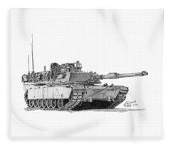 M1a1 A Company 1st Platoon Commander Fleece Blanket