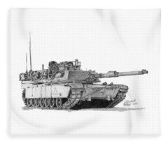 M1a1 A Company 2nd Platoon Fleece Blanket