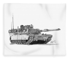 M1a1 B Company 3rd Platoon Fleece Blanket