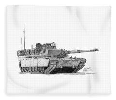 M1a1 D Company 1st Platoon Commander Fleece Blanket