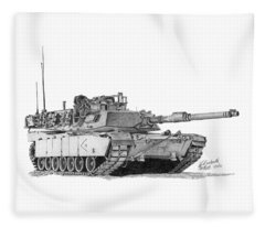 M1a1 D Company 2nd Platoon Fleece Blanket