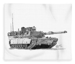 M1a1 D Company Commander Tank Fleece Blanket