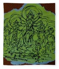 Ma Durga-2 Fleece Blanket